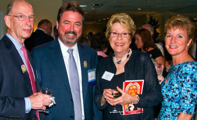 Left to right: Robert Phillips, Board Member Peter Rugen, Board Member emerita Patricia Phillips and Lynn Long. Patricia Phillips will be honored at the gala for co-founding Pacific House shelter, and for her 30 years of dedicated service.