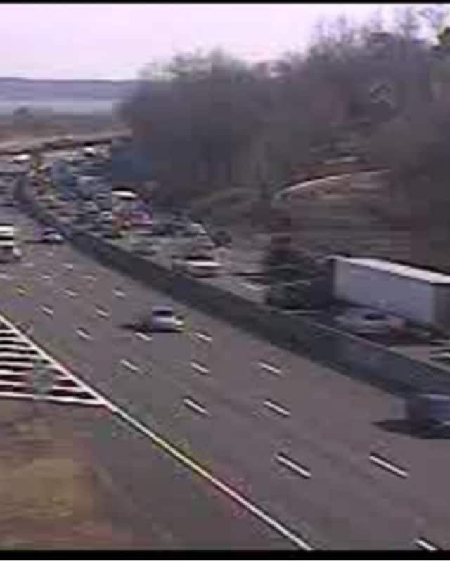 Delays just after 2 p.m. on southbound I-87 after the 1 p.m. crash on the Tappan Zee Bridge span.