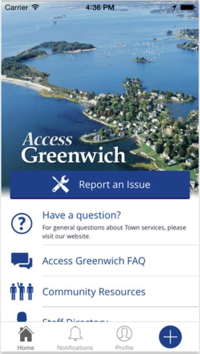 Access Greenwich, a mobile app, for residents, is now available for parking issues, as well as the Public Works Department.