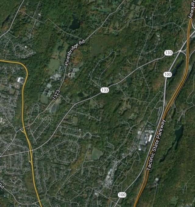 A stretch of Route 133 on the New Castle/Ossining border was closed in both directions after an accident in which a utility pole went down, blocking the road.