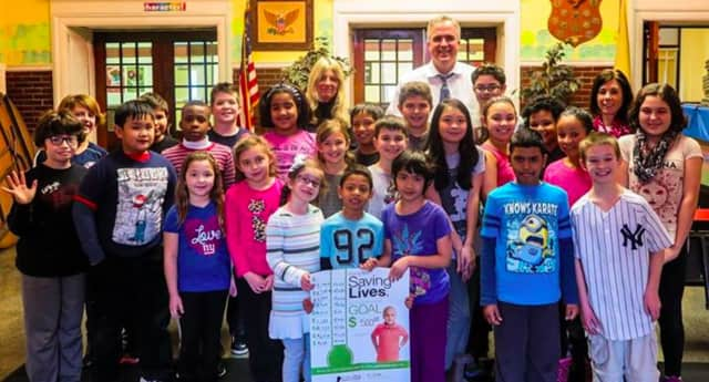 """Bergenfield students participate in """"Math-A-Thon"""" for St. Jude's Children's Research Hospital."""
