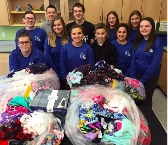 The Eastchester Middle School Student Council participated in its fourth Pajama Program.