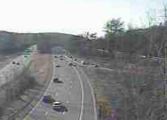 A look at the Taconic State Parkway at Route 9A/Route 100 just after 8 a.m. Thursday.
