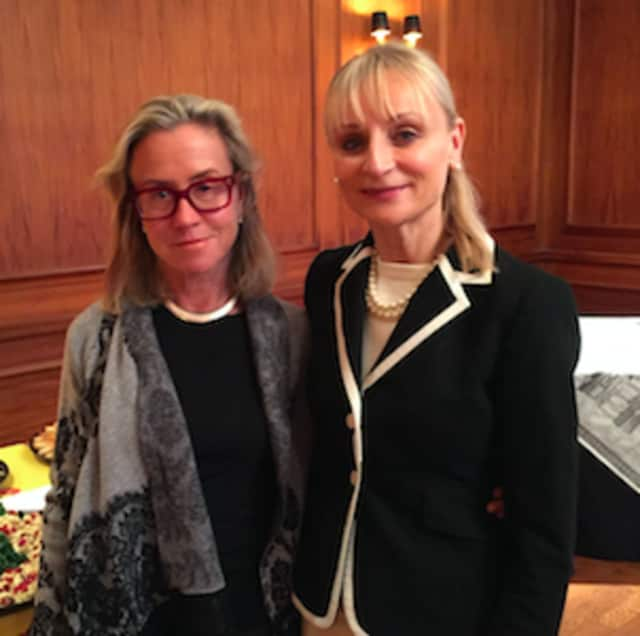 Renee Ketchum, president of Alliance Francaise, and Marcia O'Kane, president of Greenwich Chamber of Commerce