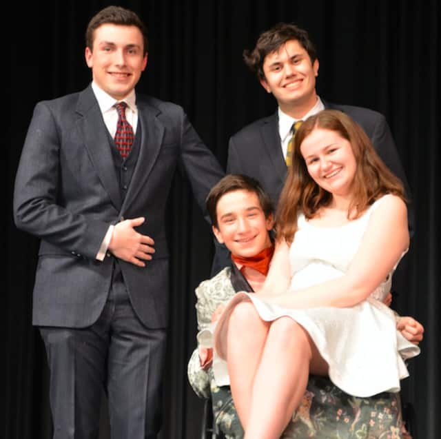"""The Strawberry Hill Players of Stamford High School will Tom Stoppard's """"The Real Inspector Hound"""" at 8 p.m. Saturday."""