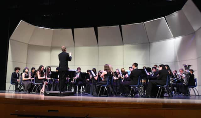 The Danbury High School bands performed for families and parents Feb. 29.