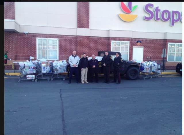 All of the food collected from the Ridgefield Police Department's food drive went to the Ridgefield Food Pantry.