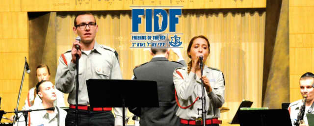 The IDF Band performs in a fundraising concert in Harrison.