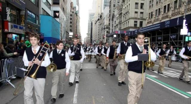 Archbishop Stepinac's band will march in both the Yonkers and White Plains St. Patrick's Day parades this year.