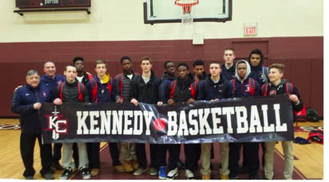 John F. Kennedy High School's Varsity Basketball team was undefeated in the regular season.