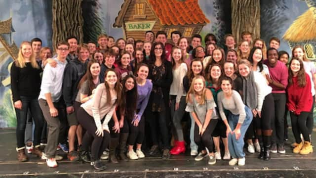 "Tony Award Winner Joanna Gleason visited the NCHS cast and crew of ""Into The Woods"" last week."