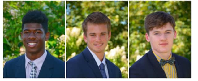 """Trinity-Pawling School students Jonathan Girard, Jordan Harnum and Stephen O'Hanlon were named """"Honorable Mention All New England Class A"""" for Basketball."""