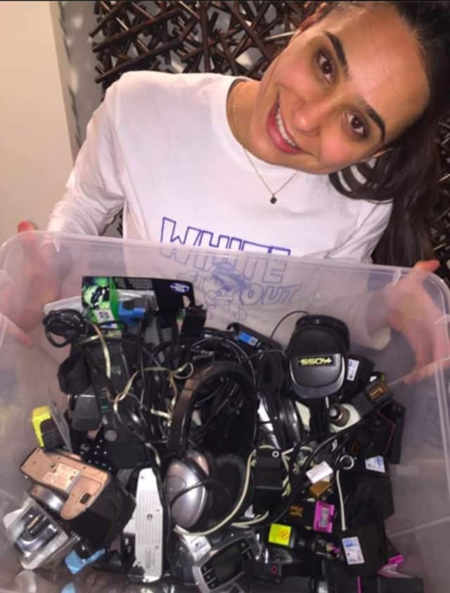A Youth United member from Dwight-Englewood School collected approximately 45 items for the Planet Green Recycle program out of River Edge's Habitat Bergen.