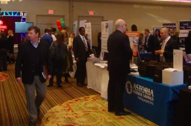 Guests mingle at the Westchester Business Expo.