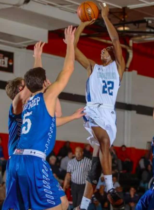 Teaneck High School junior Jawaun Daniels goes up for a shot.