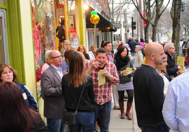Nearly 450 guests attended Taste of Rhinebeck last year and enjoyed strolling to the village restaurants, spirit shops and town eateries hosted by retailers to sample their food and drinks.
