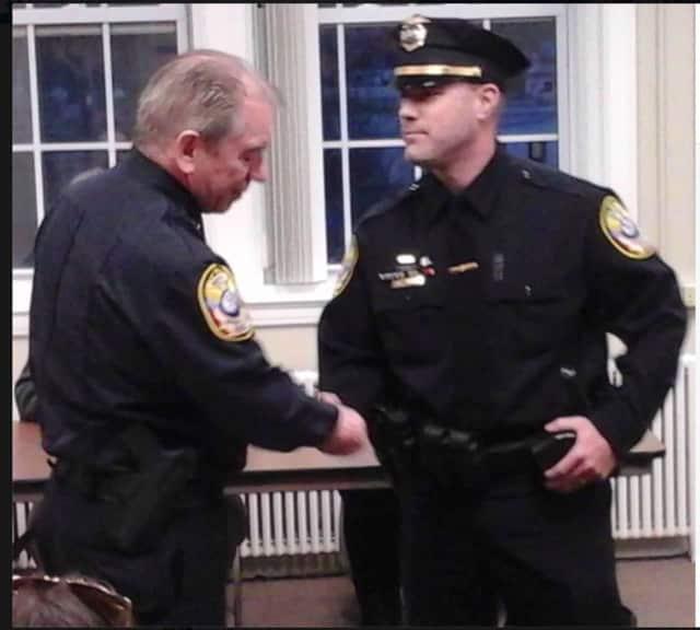 Bethel Police Sergeant Matthew Zavatsky got promoted at the Bethel Police Department.