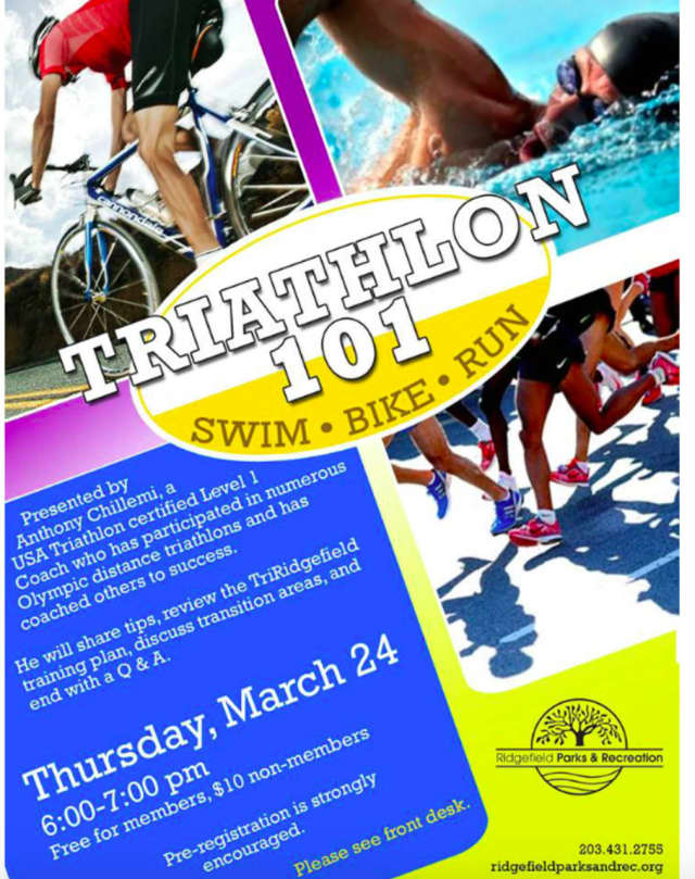 """Ridgefield Parks and Recreation is offering a """"Triathlon 101"""" class as part of its Wellness Education Series March 24."""