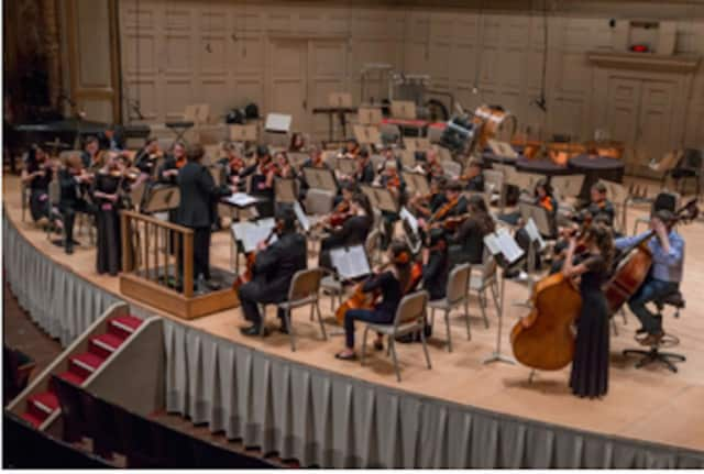 The Staples High School Chamber Orchestra, a select group of string players who audition to play in the ensemble each year, traveled to Boston on March 4 to hear a concert by the Boston Symphony Orchestra at Symphony Hall.