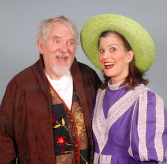 """Jim Cooper of Wilton (The Notary) and Deborah Connelly of Norwalk (Mrs. Partlett) will perform April 16 and 23 when Troupers Light Opera performs Gilbert and Sullivan's """"The Sorcerer"""" at the Norwalk Concert Hall."""