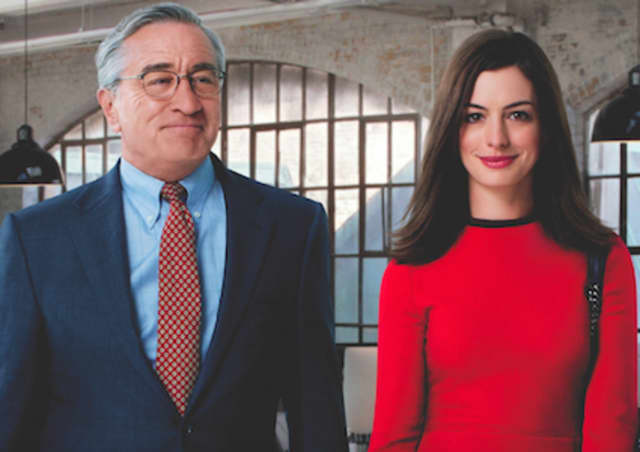 "Robert De Niro and Anne Hathaway star in ""The Intern,"" which the Stratford Library will screen on April 11."