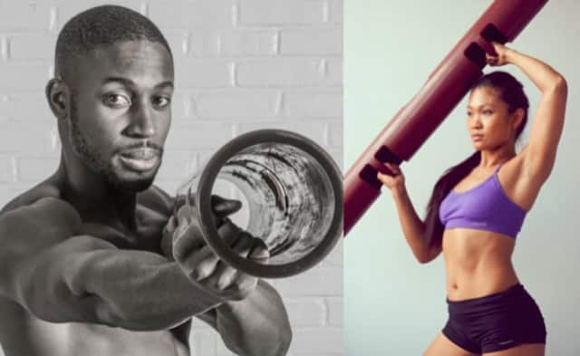 Dennis Codrington, left, and Maria Callanta, former residents of Dutchess County, are featured in videos for Equinox, a fitness facility based in Manhattan.