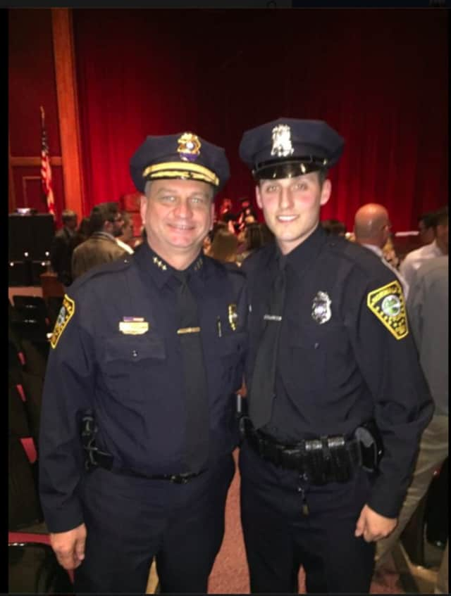 Chief Thomas Kulhawik, left, and Officer Keith Terreso