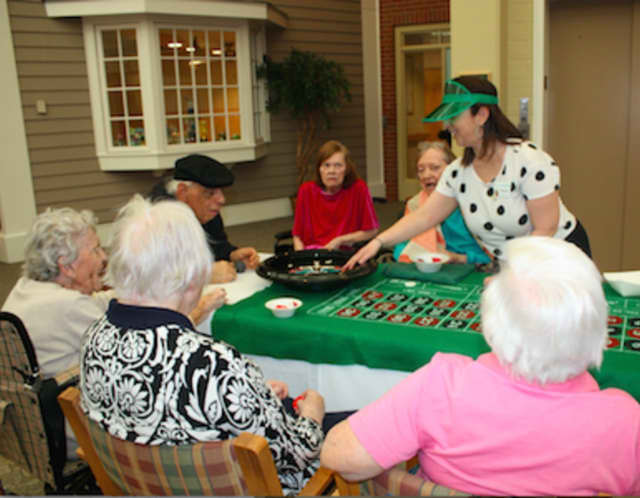 Waveny LifeCare Network's Adult Day Program participants enjoyed a casino day.