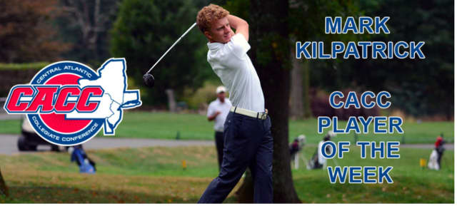 Sophomore Mark Kilpatrick of Concordia College in Bronxville has been named the Central Atlantic Collegiate Conference Player of the Week in men's golf.