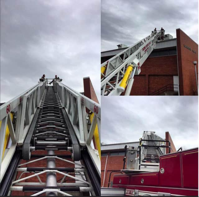 Members of the Echo Hose Hook & Ladder Co. 1 in Shelton out training March 25.