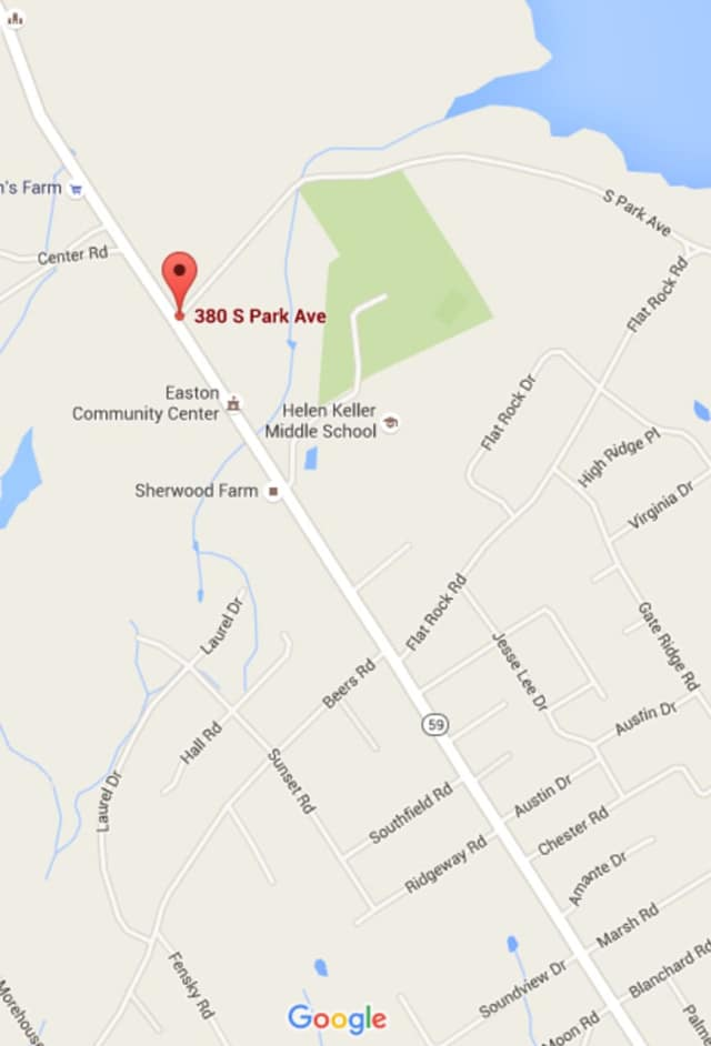 South Park Avenue is closed in the area behind Helen Keller Middle School in Easton.