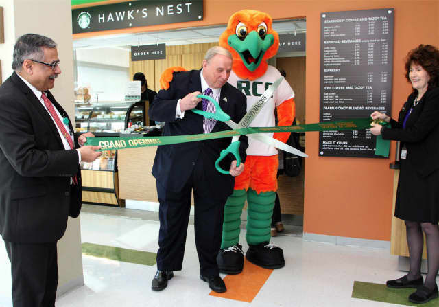 Students and employees can now enjoy a cup of Starbucks coffee with the opening of the new Hawk's Nest cafe on the Sufferen campus of RCC. The grand opening /ribbon cutting was earlier this week.