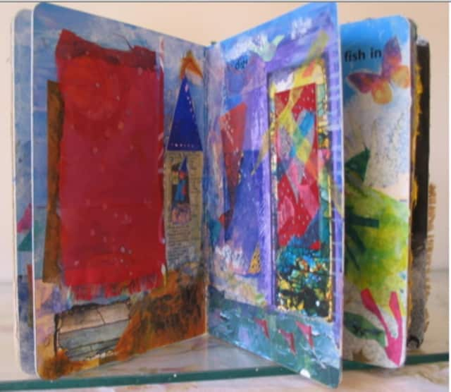 Katie Stevenson will show an audience at the C.H. Booth Library how to give a discarded book new life by transforming it into personal artwork.