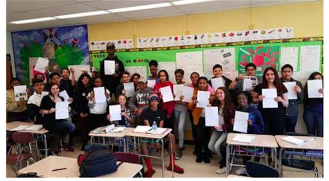 Students in Carolyne Hall's Spanish 3 class at Peekskill High School are currently corresponding with student pen pals from Spain.