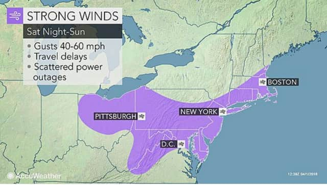 Strong, gusty winds could result in downed trees and power outages this weekend.