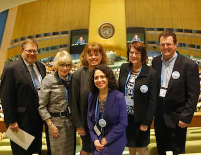 (left to right) James Cohen, Sue Frieden, Sari Jaffe, Linda Spilka, Stephne Berrend and Kerrin Behrend