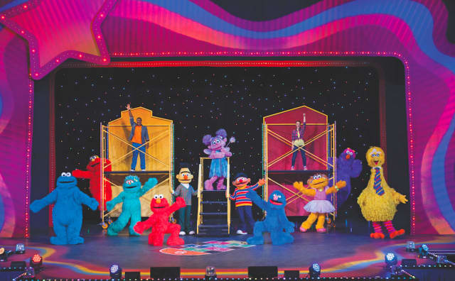 Children and adults can dance with Sesame Street characters in two shoes on Tuesday at The Palace in Stamford.