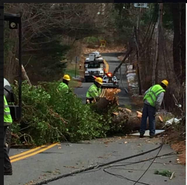 Several roads in Ramapo were temporarily closed while crews cleared trees and repaired power lines.
