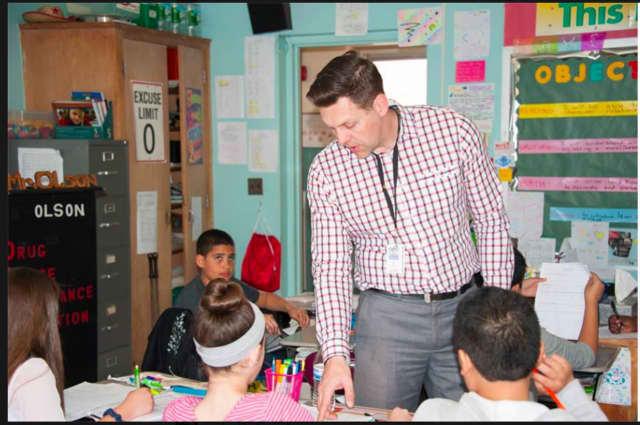 The Bergenfield Public School District is honoring Erik Olson
