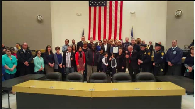 The City of Bridgeport honors the work of first responders and volunteers who helped the victims of the New Year's Eve fire on Charles Street.