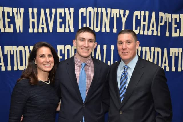 Fairfield resident Thomas Moore was recently honored by the New Haven County Chapter of the National Football Foundation and College Hall of Fame.