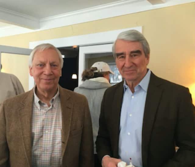 Silver Hill Hospital President Sigurd Ackerman and Sam Waterston.