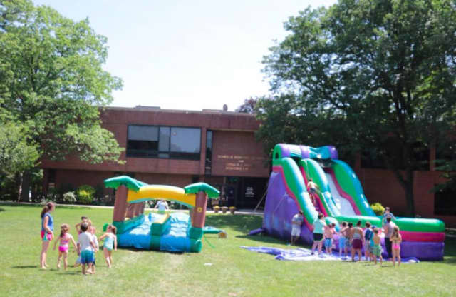 Concordia Summer Camp offers fun with water inflatables every Friday.