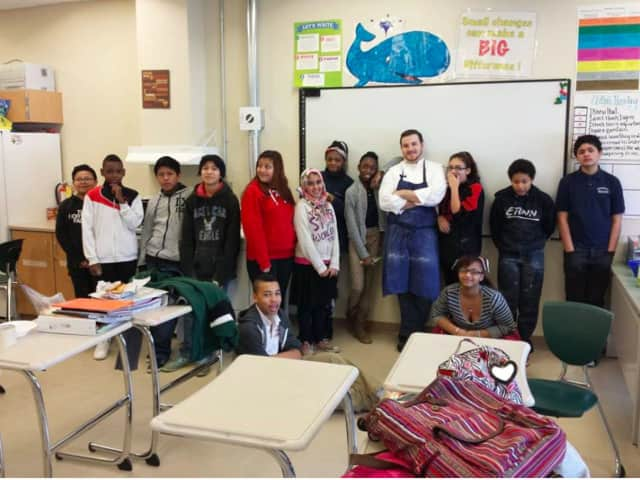 Peekskill Middle School students in Scott Tabone and Donald Shropshire's Core-X class recently had the chance to learn about poetry through cooking.
