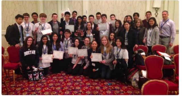 The Model UN Team of the Bergen County Academies in Hackensack.