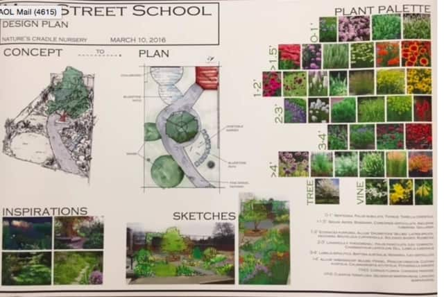 This is the design plan for school garden. Main Street School's project on a school garden has come to fruition and students and staff members will be able to watch it grow this spring.