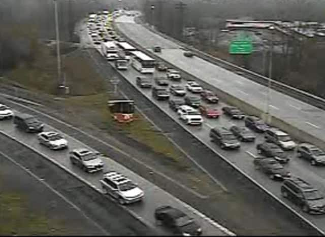 A look at delays on I-95 Saturday afternoon.