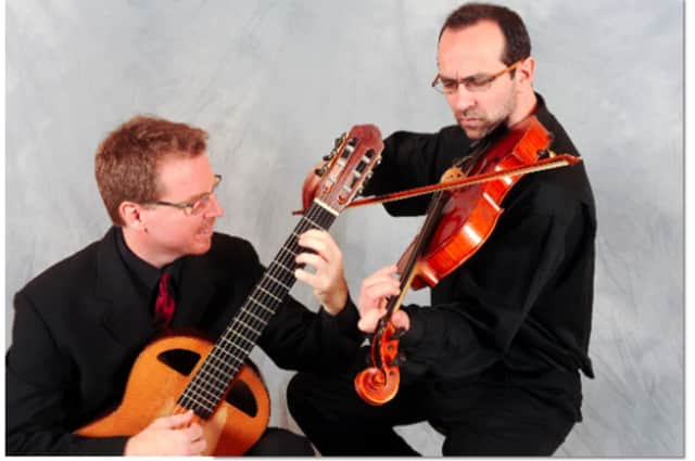 """The Brookfield Library presents the concert """"Afternoons at the Arbor"""" by the Alturas Duo April 17."""