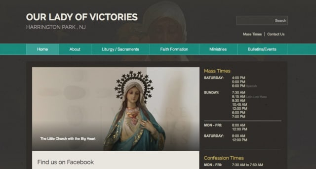 Our Lady of Victories Parish Catholic Church has unveiled a new website.