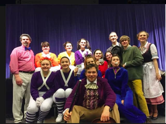 """The cast and crew of Brookfield High School's """"Willy Wonka."""""""